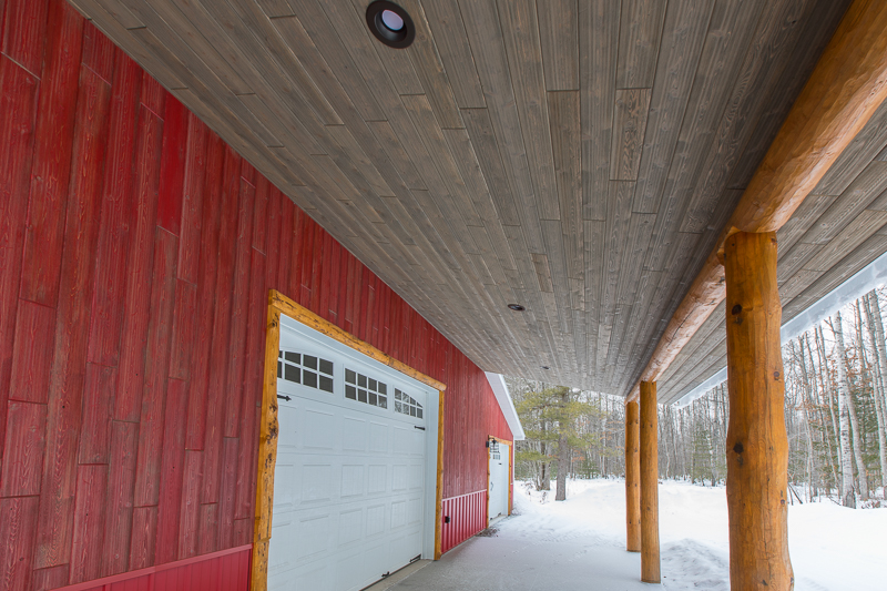Cedar Weathered Red and Weathered Gray Exterior