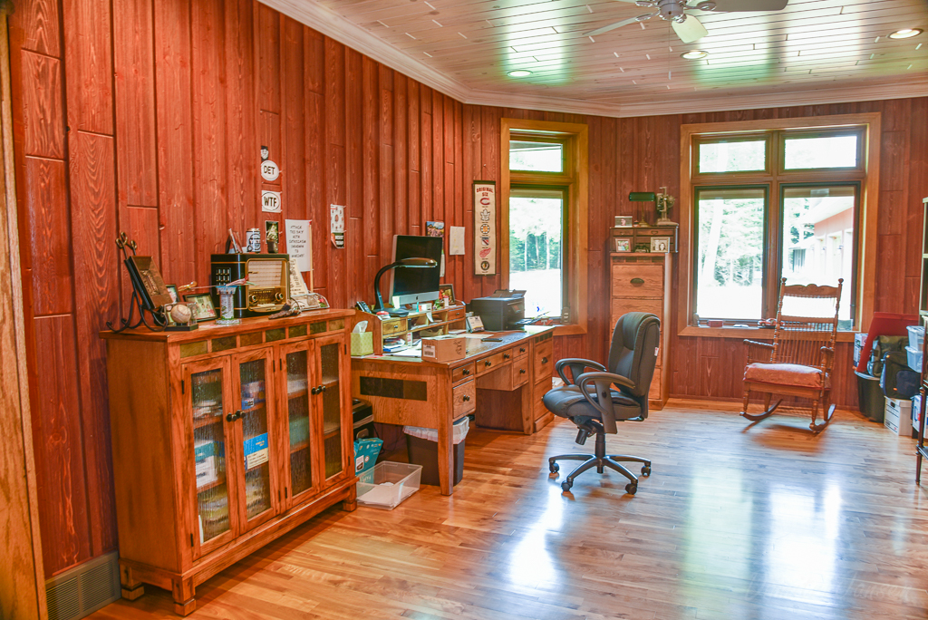 Weathered Red Barn Wood Office